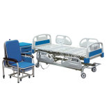 Cama de hospital eléctrica de cinco funciones