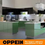 Quatre Cabinets de cuisine verts de laque de Cabinets de bords (OP15-L11)