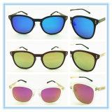 Vidrios de Sun polarizados metal de la manera del diseñador de la marca de fábrica de la fábrica del OEM Eyewear