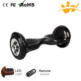 2016 éclairage LED Bluetooth de Balancing Scooter 10inch Electric Scooter de mode