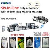 Tecido não D-Cortar o saco que faz a máquina