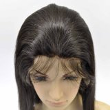 "28 "" Virgin brésilien Hair Full Lace Wig avec Baby Hair"