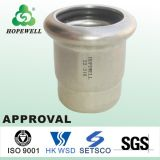 Inox de bonne qualité mettant d'aplomb l'acier inoxydable sanitaire 304 pipe convenable de tuyauterie de 316 presses évalue les connecteurs en acier de toilette de chapeau