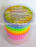 Moulage de cuvette de gâteau de silicones de la forme ronde FDA/LFGB Househole Productd