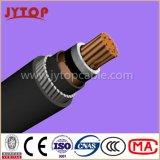 N2xsyry 20,3 / 35 kV XLPE aislado Ronda de alambre de acero blindado, cables -CORE individuales con el conductor de cobre