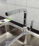 Square Vertical Pull Out Single Handle Faucet de cozinha