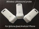 Trabajo en el transductor sin hilos del ultrasonido del teléfono móvil