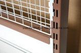 Aménagement de gondole de supermarché de panneau arrière de treillis métallique