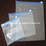 Пластмасса подгоняет напечатанный мешок замка застежка-молнии LDPE пластичный