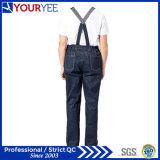 Bib do Workwear das calças de brim dos macacões do Bib do trabalho e cinta personalizados (YBD110)