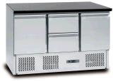 Холодильник салата нержавеющей стали коммерчески с ящиками