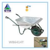 Wheelbarrow plástico grande com a roda dois