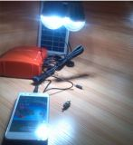 Convertidor de reserva portable solar de la fuente de alimentación del sistema eléctrico 25W con el panel solar y LED G02