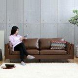 일본 작풍 가죽 소파 및 현대 거실 소파