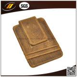 Supporto di scheda di cuoio puro della casella della moneta di vendita calda