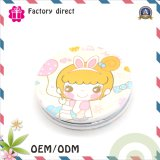 革Mirrorの上の2015年のPopularの2側面Cute Girl Pocket MakeかPocket Mirror/Compact Mirror/Beauty Salon Mirror/Beauty Salon Mirror