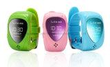Reloj elegante SIM de Bluetooth de los niños del cabrito del perseguidor de Jm09 GPS para el color de rosa Anti-Perdido IOS androide el SOS