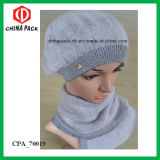 Scarf e Hats Beanie Cashmere Lady del Winter grigio Sets (CPA_70019)