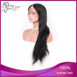 Pleine perruque de lacet de cheveux brésiliens droits en gros de Vierge