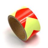 Listra reflexiva da fita do vinil para o preto da roda