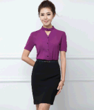 最上質のLadies Summer 2PCS Office Business Uniform Suit