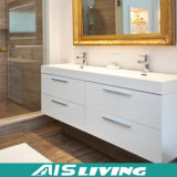 La pared blanca de Laquer colgó las cabinas de cuarto de baño para la casa (AIS-B021)