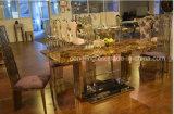 安い最高背部ステンレス鋼のレストラン表の家具