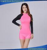Protetor longo do prurido do desgaste dos esportes do Swimwear do t-shirt da luva de Lycra para esportes
