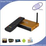 Rectángulo elegante de la ROM Kodi 16.0 2.4G WiFi Bluetooth TV del RAM 8GB de la base 2GB del patio de Amlogic S812 con el rectángulo androide hecho salir sistema de pesos americano de la TV