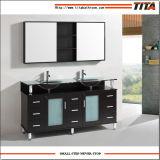 Мебель T9142c ванной комнаты твердой древесины Tempered стекла 2016