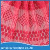 Bello fabbricato del merletto, fabbricato rosso del merletto, fabbricato mescolato del merletto del cotone