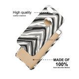 Nuevo caso de cuero de cuero de la contraportada de las rayas verticales del diseño para Samsung Note3/4/5