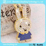 귀여운 토끼 모양 보석 USB 펜 드라이브 (ZYF1911)