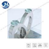 Table basse ovale en verre Tempered avec des pattes d'acier inoxydable