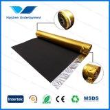 3mm черное ЕВА с золотистым Underlayment ковра пленки