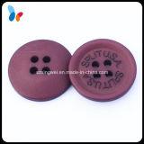 Bouton concave fait sur commande d'accessoire de résine de trous de la mode quatre de logo