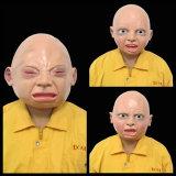 Máscara extravagante assustador realística do bebê de Halloween do partido do traje do disfarce