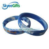 Bracelets de silicone à balayage enroulé pour promotion