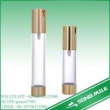 frasco 100ml mal ventilado dourado acrílico para o empacotamento cosmético