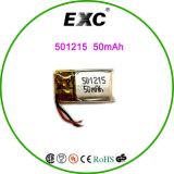 Bateria da bateria 501215 3.7V 45mAh Lipo do polímero do lítio para o GPS