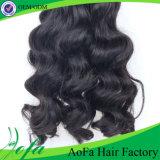 Extensión brasileña vendedora caliente del pelo humano de Remy del pelo de la Virgen