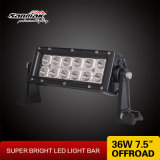 Barra clara do diodo emissor de luz do dobro brilhante Offroad dobro popular da ceia da estrada da polegada 36W do CREE 7.5 da pilha