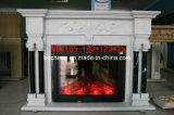 Simple Carved White Marble Fireplace for Decoration