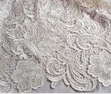 Água - tela solúvel do laço para o vestido
