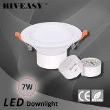 7W 3.5 Zoll LED unten helles Downlight, das weißes Ce&RoHS beleuchtet
