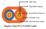 図8 PVC/LSZHのジャケットが付いている堅いバッファZipcordの相互接続ケーブル