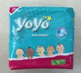 La couche-culotte de bébé la meilleur marché des prix de couche-culotte remplaçable de bébé de film de PE avec des bandes de pp