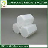 Bottiglia esagonale di plastica del nuovo PE di disegno 100ml
