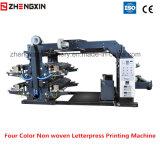 Tissu non tissé Zxh-C41200 de machine d'impression d'impression typographique de quatre couleurs