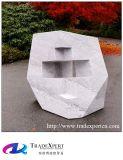 옥외 조경 도보 거리 사각 화강암 훈장 추상적인 조각품